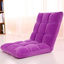Floor Chairs Adjustable Lazy Floor Sofa Folding Chair Memory Foam Floor Chair for Reading Games Meditating Padded Gaming Chair(Purple)