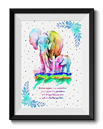 Uhomate Colorful Baby Elephant Elephants Art African...