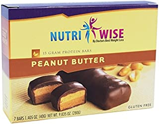 NutriWise - Peanut Butter Bars | Diet Protein Bars | High Protein, Low Calorie, Low Cholesterol (7/Box)