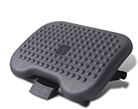 MerakiXlab Ergonomic Footrest Under Desk - Adjustable Height and Angle -Comfy Office Foot Rest for Home and Office