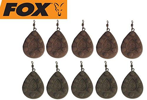FOX Bleie Kling on Leads Karpfenbleie Wirbelbleie Blei, Angelbleie zum Karpfenangeln, Karpfen Bleie für Karpfenmontagen, Festbleimontagen, Laufbleimontagen, Karpfenrigs, Gewicht:113g
