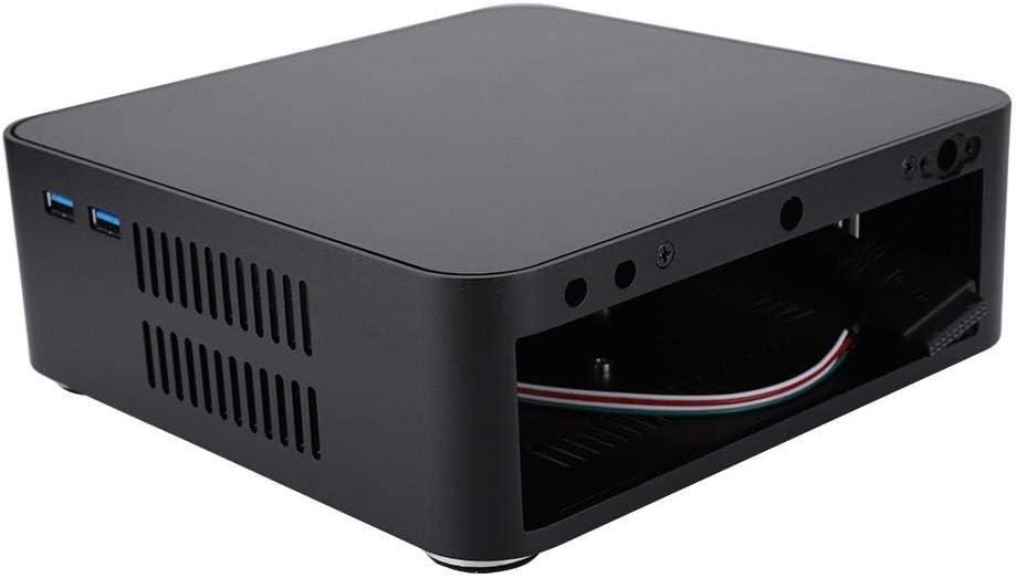 ASHATA Mini ITX Computer Case L65 Black USB3.0 Aluminum Alloy HTPC Case,Mini PC Computer Case,Beautiful and Exquisite,Suitable for Minh-IIX Motherboard