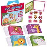 Valentine Cards For Kids   Zoo Animal Punch Out Puzzle Cards   Classroom Fun For Boys & Girls