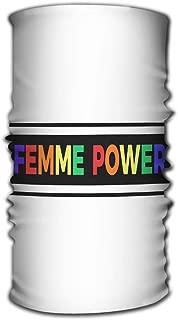 YILINGER Unisex Variety Scarf Wrap Bandanna Headwear Neck Gaiters Head Scarf Face Masks Femme Power Slogan Modern Colorful Text Print Fashion Design Femme Power Slogan Modern