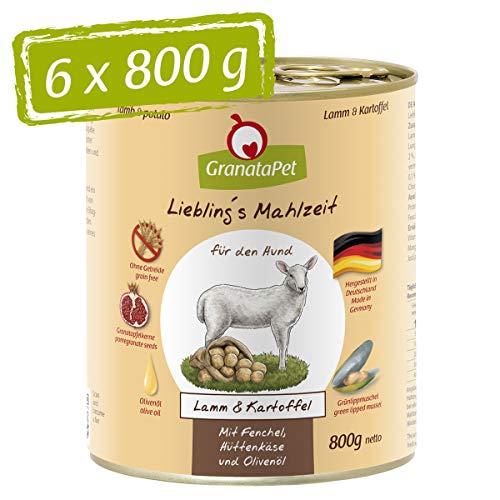 Liebling´s Mahlzeit Preferito S pasto Umido Cibo Agnello & Patate, Confezione da (6X 800G)
