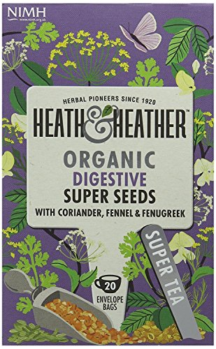 Heath & Heather Organic Super Seeds Tea 20 Bags (Pack of 6)