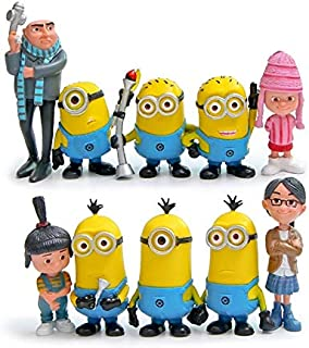YOYOTOY 10Pcs/Set 2 Toys Anime Gru Orphans Girl PVC Action Figure Toys Model Toy Gift for Children Cool Must Haves 6 Year Old Girl Gifts The Favourite Superhero Birthday UNbox Toys