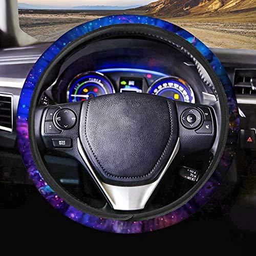 AFPANQZ Nebula Galaxy Design Steering Wheel Covers 14-15' inch Universal Fit Most Car Sedans SUVs Comfort Grip Comfortable Handmade Neoprene...