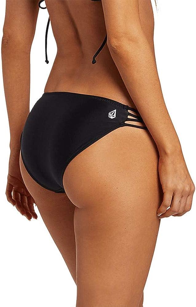 Volcom Women's Simply Solid Full Bikini Bottom (Regular & Plus Size)
