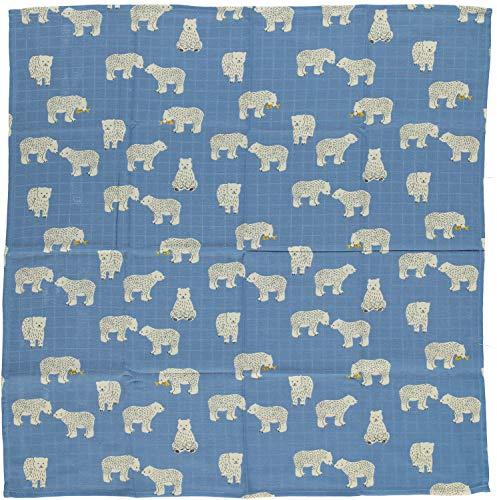 Smafolk Kuscheltuch allover Eisbär Print 70 x 70 cm
