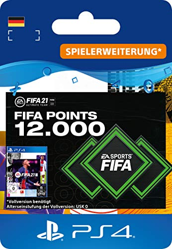 FIFA 21 Ultimate Team 12000 FIFA Points | PS4 (inkl. kostenlosem Upgrade auf PS5) Download Code - deutsches Konto