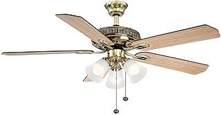 Hampton Bay Glendale 52 in. Indoor Flemish Brass Ceiling Fan with Light Kit
