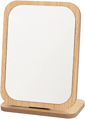 Qazwsx Hd Makeup Mirror Desktop Desktop Vanity Mirror Portable Sleek Minimalist Single Sided