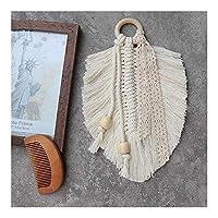 壁掛け葉の形モロッコタペストリー農家の装飾綿ロープ手Wovening Macrmae自由奔放に生きるホームデコレーション