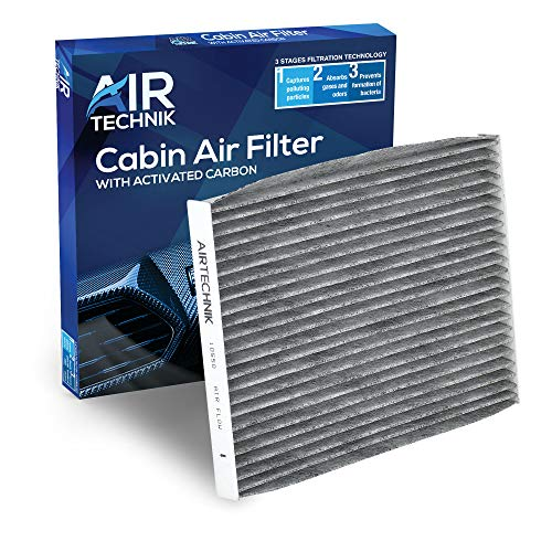 AirTechnik CF10550 Cabin Air Filter w/Activated Carbon   Fits Nissan Rogue 2008-2013, Rogue Select 2014-2015, Sentra 2007-2012