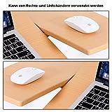 COSTWAY Laptoptisch Notebooktisch Pflegetisch Rolltisch Betttisch Sofatisch, auf Rollen, höhenverstellbar und neigungsverstellbar, 95x64x45cm - 4