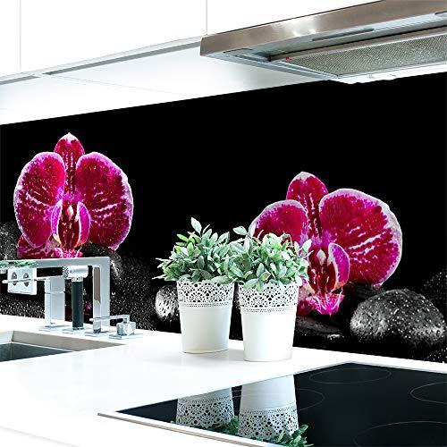 Küchenrückwand Orchideen Pink Premium Hart-PVC 0,4 mm selbstklebend 400x60cm