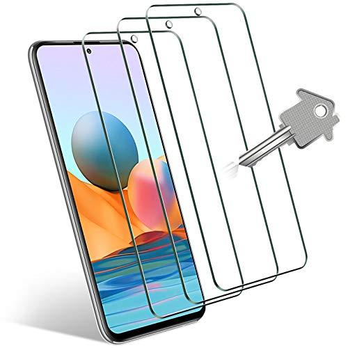 Wonantorna Kompatibel mit Xiaomi Mi 10T Lite 5G/ Poco X3 NFC/Poco X3 Pro/Redmi Note 9S /Redmi Note 9 Pro/Redmi Note 10 Pro/Poco F3 Panzerglas Schutzfolie, 3 Stück 9H Festigkeit HD Bildschirmschutzfolie