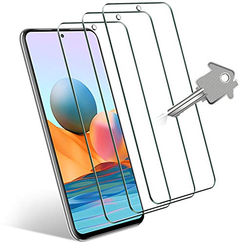 Wonantorna Cristal Templado para Xiaomi Redmi Note 10 Pro/Note 9S/Note 9 Pro, Xiaomi Mi 10T Lite 5G, Xiaomi Poco X3 NFC/Poco X3 Pro, [3 Piezas] [9H Dureza] 99.99% HD Protector de Pantalla