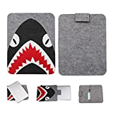 Laptop MacBook Sleeve Bag Cover Protective Carrying Case for MacBook Air MacBook Pro 13/15 Inch iPad Mini iPad Pro (13', Shark)