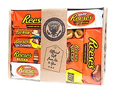 Holland Plastics Original Brand Authentic American Assorted Hamper - All Your Favourite Pieces of Reeses, Gift Packaged. from Lucky Dip