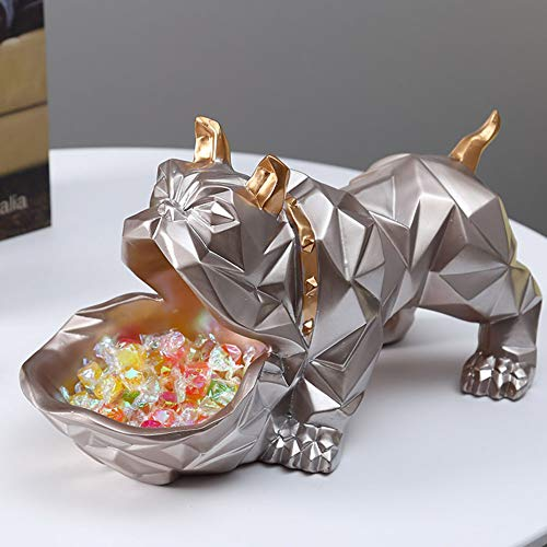 WNTHBJ Grote mond opslag hond, creatieve kantoor desktop opslagdoos, deur schoenenkast sleutelopslag, woonkamer salontafel thuis snoep doos decoratie