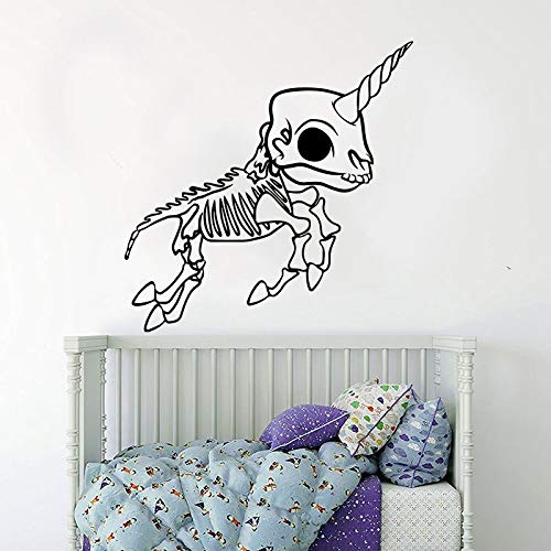 Wall Decals Wall Sticker Cartoon Skeleton Skull Animal Fairytale Car Laptop Skeleton Animal Bedroom Kids Room 54x54cm