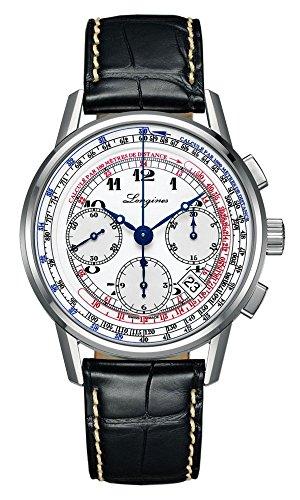 Longines自動Heritageクロノグラフメンズ腕時計l2.781.4.13.2