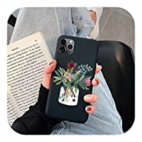 新しいかわいい鉢植えの花サボテンPineCaseFor iPhone 11 12 Pro Xs Max X XR 6 6S 7 8 Plus 5 5S Soft TPU Cover For iPhone SE2 Cases-Khe-huahuipz-For iPhone 11 Pro