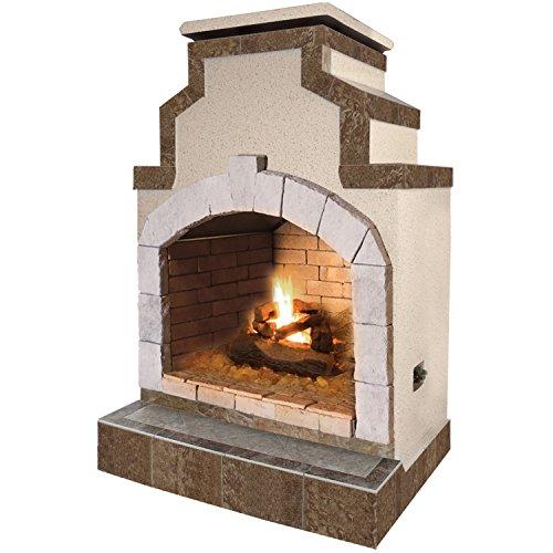 Cal Flame Fire FRP-906, 55,000 BTU Gas Outdoor Fireplace