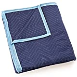 Sure-Max Moving & Packing Blanket - Deluxe Pro - 80' x 72' (40 lb/dz weight) - Professional Quilted Shipping Furniture Pad Royal Blue - 1 Blanket