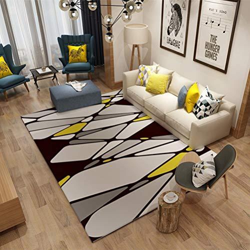 QUD Mostaza Alfombra alfombras for el hogar Tinta Pintura Curvas de Oro...