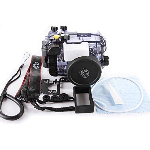 Fotga 40M Wasserdichtes Gehäuse Tauch Harte Fall Abdeckung für Sony A6000 A6300 A6500 Kamera 16-50mm Objektiv