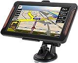 GPS Navi Navigationsgeräte für Auto, Navigation für Auto LKW PKW Touchscreen 7 Zoll 8G 256M Sprachführung Blitzerwarnung mit POI,2019 Europa UK 48 Karten(kostenloses Karte-Update)
