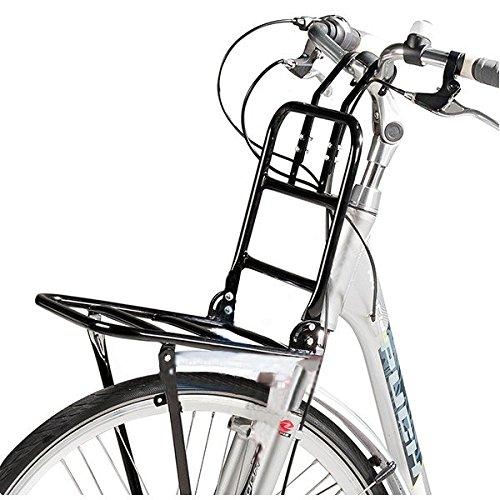 Warenhandel König Front-Gepäckträger in schwarz für Fahrräder mit 24