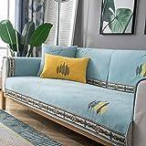 Couch Decken überwurf,schonbezüge Sessel,Couch Auflage,Hochwertige Sofa-Schonbezug für Stuhl/Sofa,Sofabezüge aus Chenille-Stickerei,Stoffsofa-Sparer,Ledercouch-Schutz-hellblau_70 * 90 cm