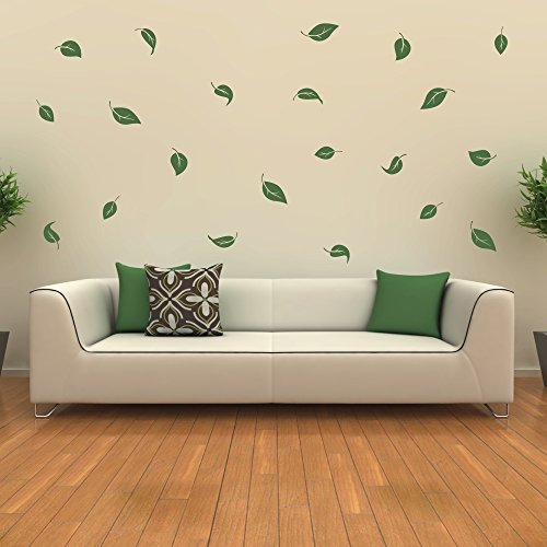 malango® Wandtattoo Blätter Laub Wandaufkleber Wanddekoration Blatt Pflanzen Wohnzimmer Wand Deko Tattoo Set 3-30 Blätter lindgrün