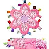 Manta para bebé Comfort seguridad con colorido Etiquetas felpa suave Taggy...