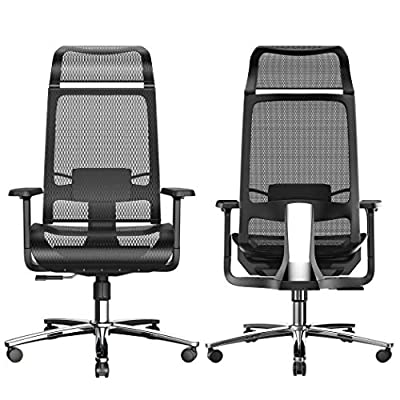 Amazon - Save 45%: BILKOH Ergonomic Office Chair with Breathable Mesh Seat and Back, Adjustable…