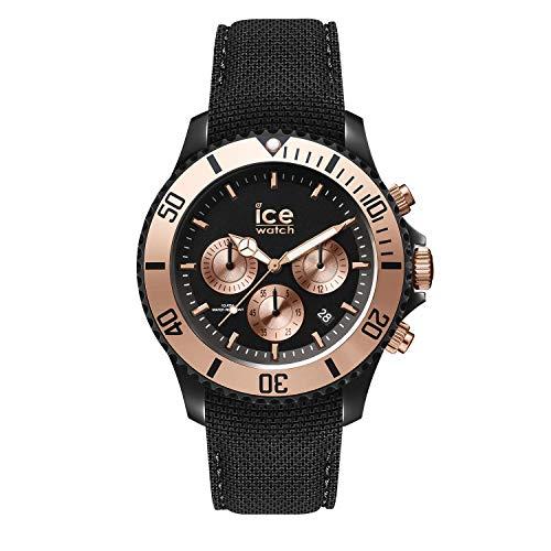 Ice-Watch - Ice Urban Black Rose-Gold - Orologio da Uomo con Cinturino in Silicone - Chrono - 016307, Large, Nero