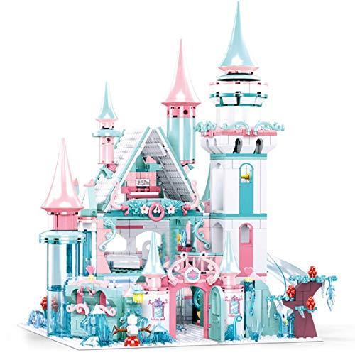Set de Edificio de la Princesa Dream Castle, Castillo de Hielo Compatible con Lego Princess Castle - 1314 PCS