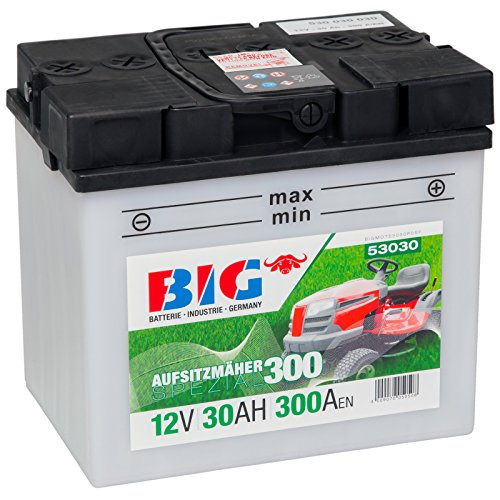BIG Y60-N30L-A Aufsitzmäher 12V 30Ah 300A/EN Rasenmäher 53030 C60-N30L-A