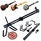 The Original Nordell Premium Horizontal Guitar Wall Hanger/Bracket Stand to mount Electric, Acoustic & Bass Guitar