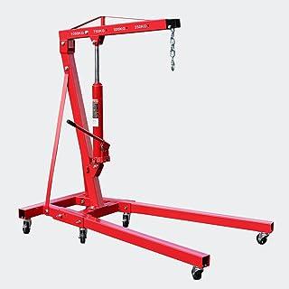 Grúa de taller plegable 1000kg Grúa elevación de cargas Elevar motores Brazo elevación 960-1240 mm