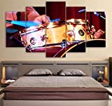 LHXJCBHDWXD Canvas One Set Instrumento Musical Pintura de Paisaje HD Impreso 5 Piezas Decoración Arte de la Pared del hogar Decoración de Imagen Modular Sin Marco-A_20x35_20x45_20x55cm