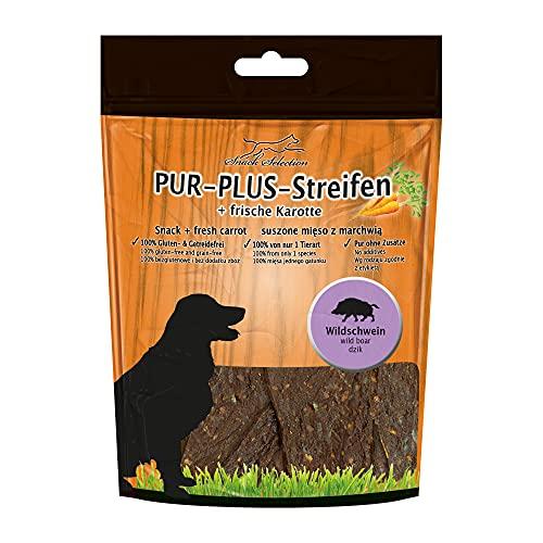 Pur Plus kaustreifen Sanglier + Carotte 100% Sans Gluten getreidefrei sans d'autres Ingrédients, sans additifs irgendwelchen Idéal pour chien sensibles et personnes allergiques 1 seul animal art