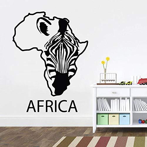 WERWN Mapa de África, calcomanía de Pared, Fauna Africana, Cebra, diseño de Interiores para el hogar, Arte, Oficina, decoración del hogar, Pegatina de Vinilo para Pared