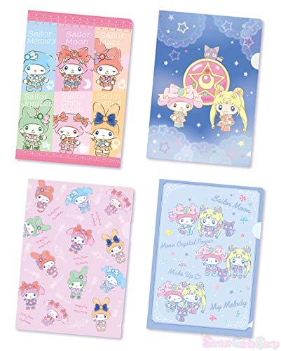 【Sailor Moon × My Melody】 7eleven colabolation My Melody B5 Clear File 4 Set Kawaii Japan Anime NAKAYOSHI Sanrio