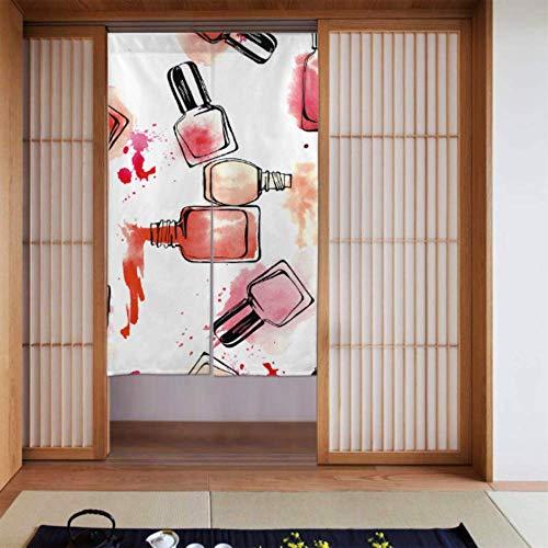 LONGYUU Vorhang Küchentür Bunte Kunst Mode Nagellack Japanisch Noren Vorhang Vorhang Für...