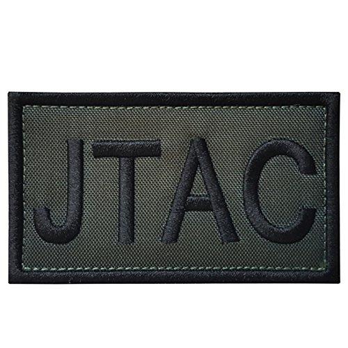 2AFTER1 OD Green JTAC Joint Terminal Attack Controller Army Air Support FAC Tactical Embroidered Hook&Loop Patch